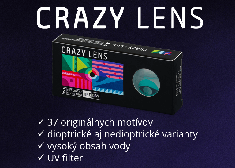 37 originálnych motívov, dioptrické aj nedioptrické varianty, vysoký obsah vody, UV filter