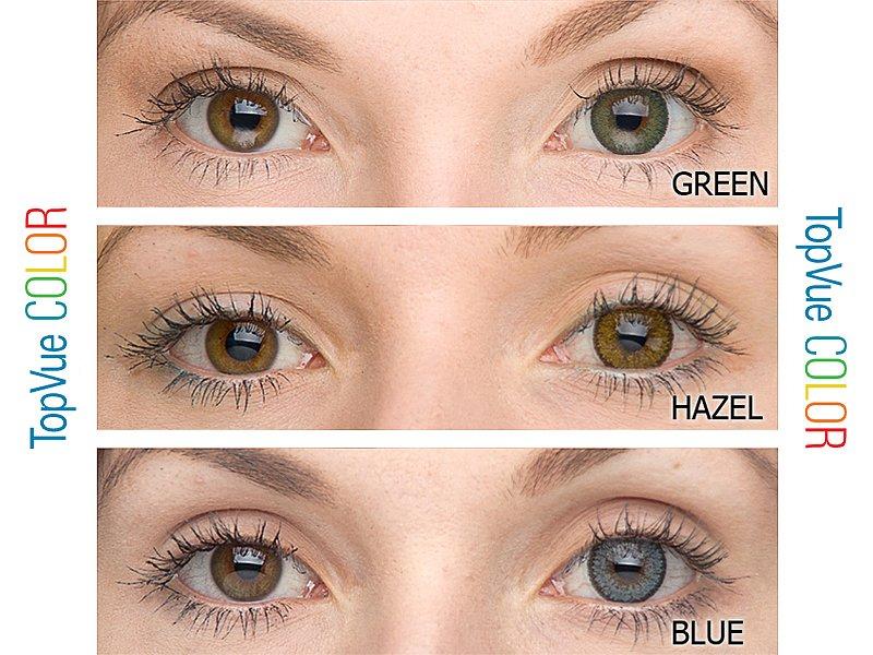ce170a71a barevné kontaktní šošovky - na hnědé oči · barevné kontaktní čočky TopVue  Color ...