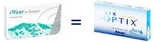 iWear XR Comfort = Air Optix Aqua