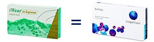 iWear XR Supreme = Biofinity