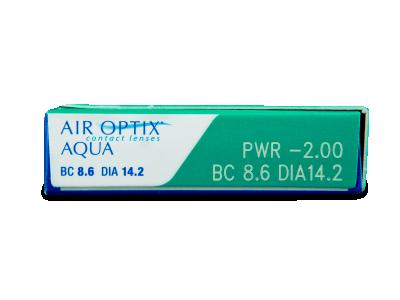 Air Optix Aqua (3šošovky) - Náhľad parametrov šošoviek