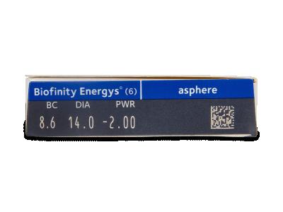 Biofinity Energys (6 šošoviek) - Náhľad parametrov šošoviek