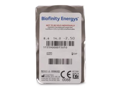 Biofinity Energys (6 šošoviek) - Vzhľad blistra so šošovkou