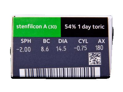 MyDay daily disposable toric (30 šošoviek) - Náhľad parametrov šošoviek