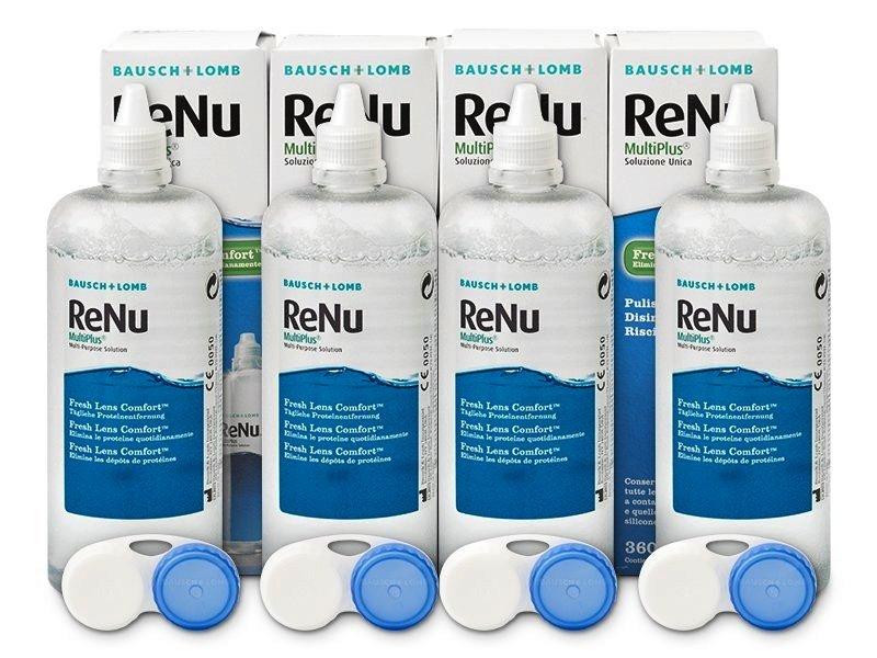 ReNu MultiPlus 4 x 360ml  - Výhodné štvorbalenie roztoku - Bausch and Lomb