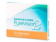 Torické (astigmatické) kontaktné šošovky - PureVision 2 for Astigmatism (3 šošovky)