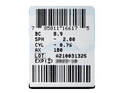 PureVision 2 for Astigmatism (3 šošovky) - Náhľad parametrov šošoviek