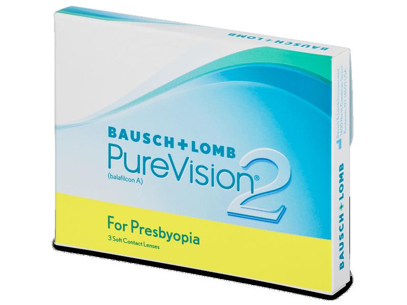 PureVision 2 for Presbyopia (3šošovky) - Multifokálne kontaktné šošovky