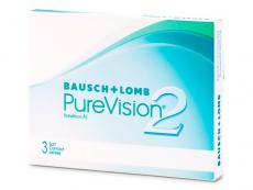 Mesačné kontaktné šošovky - PureVision 2 (3 šošovky)