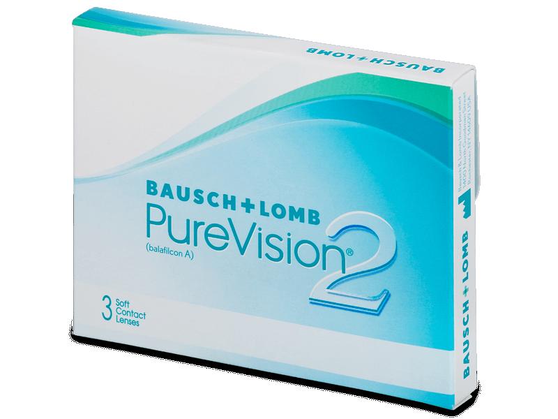 PureVision 2 (3 šošovky) - Mesačné kontaktné šošovky