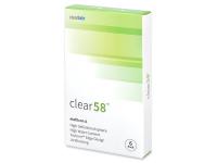 Clear 58 (6šošoviek) - Štrnásťdenné kontaktné šošovky