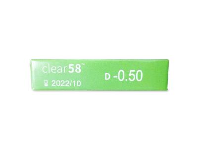Clear 58 (6šošoviek) - Náhľad parametrov šošoviek