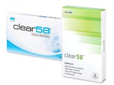 Mesačné kontaktné šošovky - Clear 58 (6šošoviek)