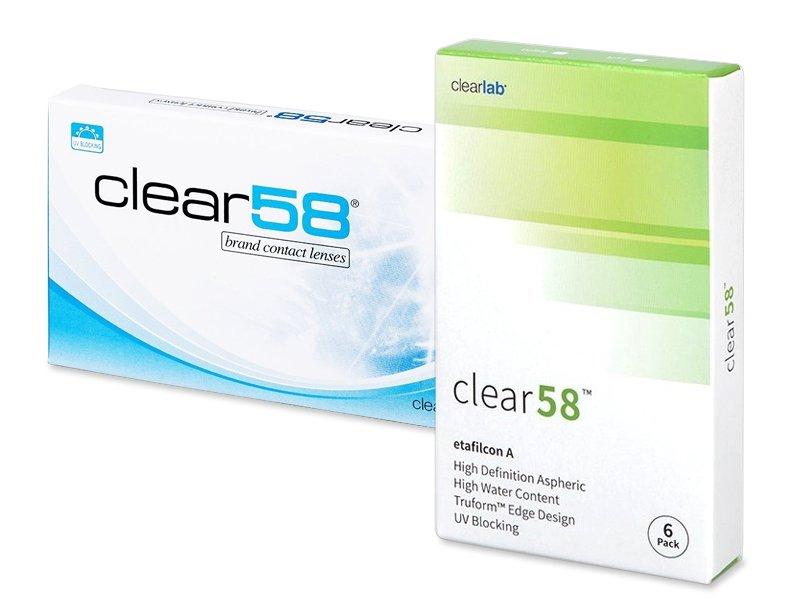 Clear 58 (6šošoviek) - Štrnásťdenné kontaktné šošovky - ClearLab