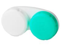Puzdro na šošovky zeleno-biele so znakom