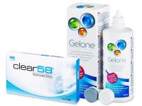 Clear 58 (6šošoviek) + roztok Gelone 360 ml