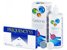Výhodné balíčky šošoviek - Frequency 55 (6 šošoviek) + roztok Gelone 360ml