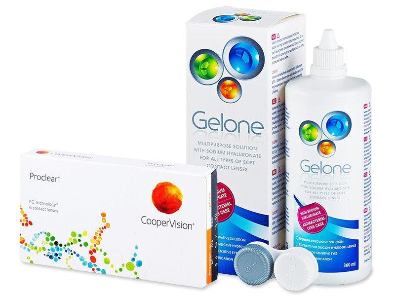 Proclear Compatibles Sphere (6 šošoviek) +roztokGelone360ml - Výhodný balíček