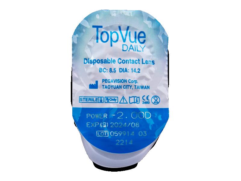 TopVue Daily (180šošoviek) - Vzhľad blistra so šošovkou
