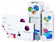 Výhodné balíčky šošoviek - Avaira (2x3 šošovky) +roztokGelone360ml