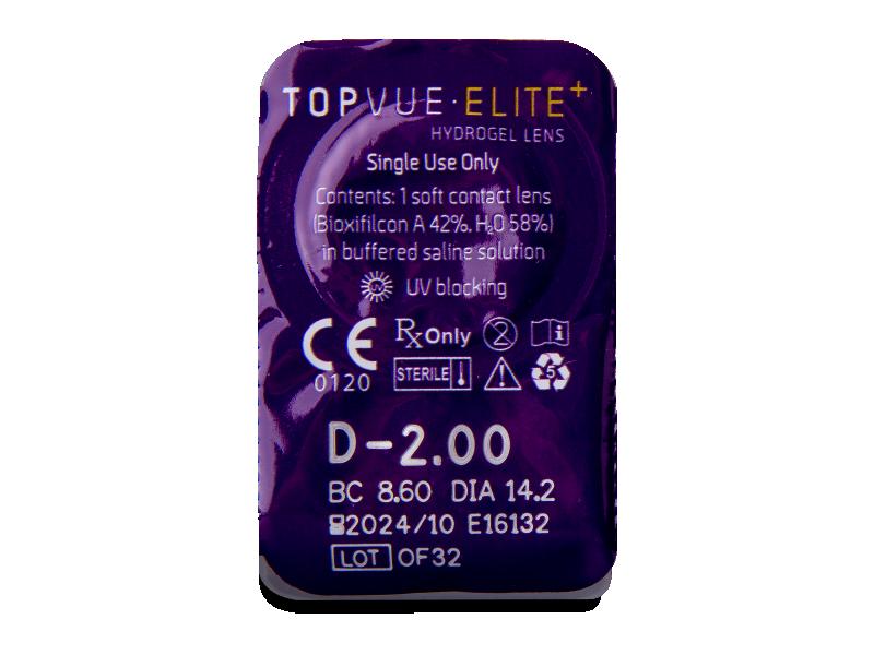 TopVue Elite+ (10šošoviek) - Vzhľad blistra so šošovkou