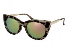 Slnečné okuliare - Slnečné okuliare Alensa Cat Eye Havana Pink Mirror