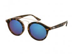 Slnečné okuliare Panthos - Detské slnečné okuliare Alensa Panto Havana Blue Mirror