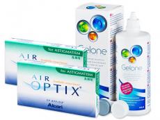 Air Optix for Astigmatism  (2x3 šošovky) +roztokGelone360ml - Starší vzhľad