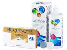 Výhodné balíčky šošoviek - Frequency 55 Aspheric (6šošoviek) +roztokGelone360ml