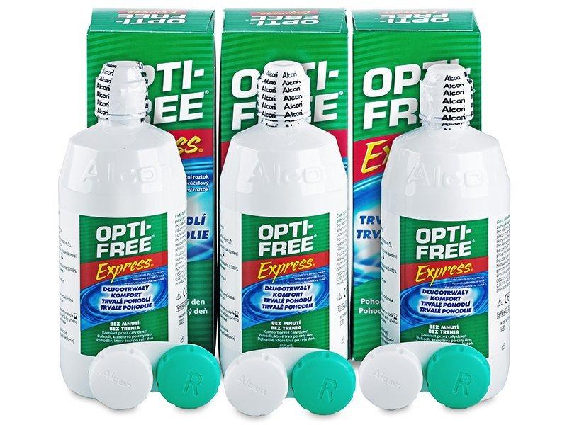 OPTI-FREE Express 3x355ml  - Výhodné trojbalenie roztoku - Alcon