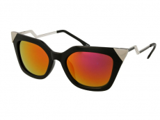 Slnečné okuliare - Slnečné okuliare Alensa Cat Eye Shiny Black Mirror