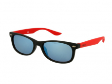 Slnečné okuliare obdĺžníkové - Detske slnečné okuliare Sport Black Red Mirror