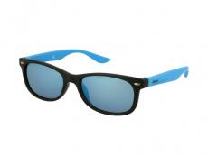 Slnečné okuliare obdĺžníkové - Detske slnečné okuliare Sport Black Blue Mirror