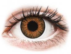 Hnedé kontaktné šošovky - dioptrické - Air Optix Colors - Honey - dioptrické (2šošovky)