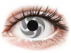 Biele kontaktné šošovky - nedioptrické - ColourVUE Crazy Lens - Blade - nedioptrické (2šošovky)