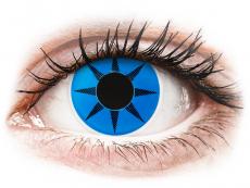 Crazy farebné šošovky - nedioptrické - ColourVUE Crazy Lens - Blue Star - nedioptrické (2šošovky)