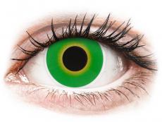 Crazy farebné šošovky - nedioptrické - ColourVUE Crazy Lens - Hulk Green - nedioptrické (2šošovky)