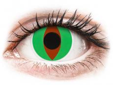 Zelené kontaktné šošovky - nedioptrické - ColourVUE Crazy Lens - Raptor - nedioptrické (2šošovky)