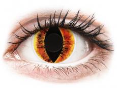 Farebné kontaktné šošovky - ColourVUE Crazy Lens - Saurons Eye - nedioptrické (2šošovky)