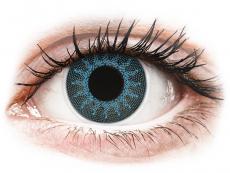 Farebné kontaktné šošovky - ColourVUE Crazy Lens - Solar Blue - nedioptrické (2šošovky)