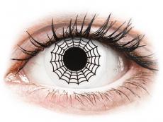 Biele kontaktné šošovky - nedioptrické - ColourVUE Crazy Lens - Spider - nedioptrické (2šošovky)
