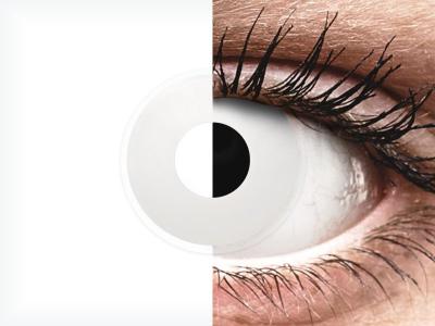 ColourVUE Crazy Lens - WhiteOut - nedioptrické (2šošovky)