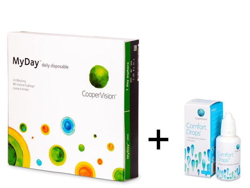 MyDay daily disposable (90 šošoviek) + kvapky Comfort Drops 20 ml ZADARMO f653c665754