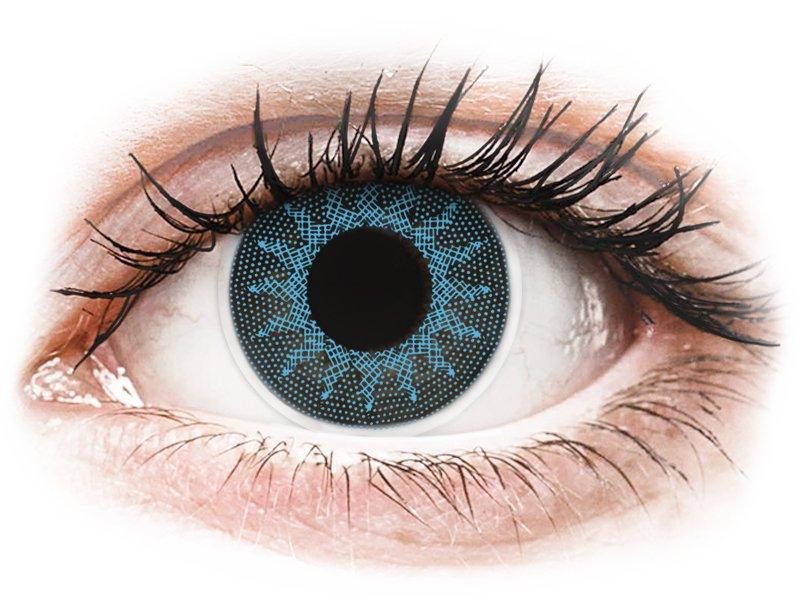ColourVUE Crazy Lens - Solar Blue - dioptrické (2šošovky) - Coloured contact lenses