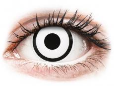 Biele kontaktné šošovky - dioptrické - ColourVUE Crazy Lens - White Zombie - dioptrické (2šošovky)