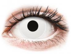 Biele kontaktné šošovky - dioptrické - ColourVUE Crazy Lens - WhiteOut - dioptrické (2šošovky)