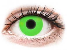 Zelené kontaktné šošovky - nedioptrické - ColourVUE Crazy Glow Green - nedioptrické (2šošovky)