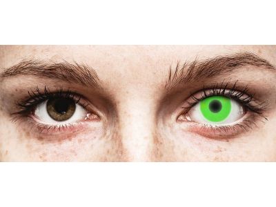 ColourVUE Crazy Glow Green - nedioptrické (2šošovky)