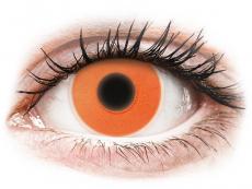 Špeciálne farebné šošovky - nedioptrické - ColourVUE Crazy Glow Orange - nedioptrické (2šošovky)