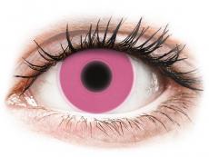 Ružové kontaktné šošovky - nedioptrické - ColourVUE Crazy Glow Pink - nedioptrické (2šošovky)